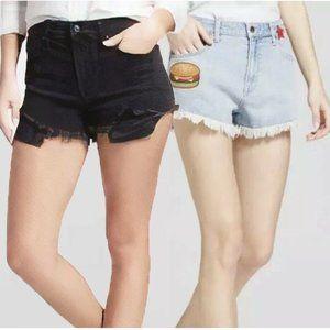 Bundle of 2 Mossimo High Rise Denim Shorts #4385